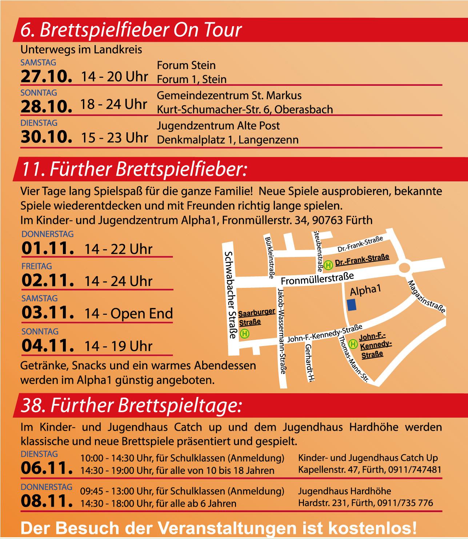 Fürther Brettspielfieber @ JUZ Alpha1 | Fürth | Bayern | Deutschland